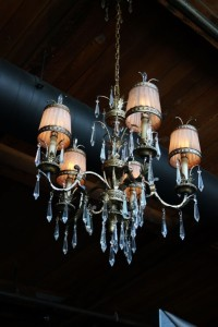 Chandelier lighting inside Aston Manor Seattle